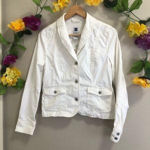 4/$20🍄 GAP Factory White Blazer / Jacket